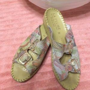 LA PLUME   Italian Leather Sandals size 8.5